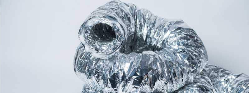 coiled aluminum dryer vent hose
