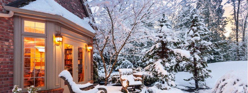 well-maintained home during winter after New Year's
