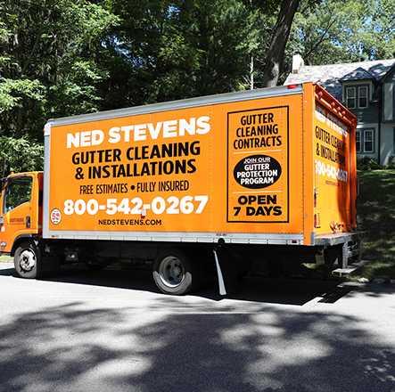 Ned Stevens Home Services Gutter Installation Truck